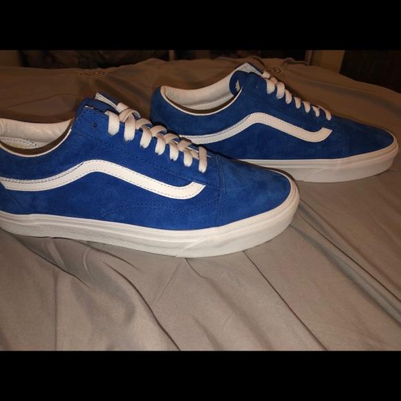 Vans Shoes | Pig Suede Old Skool Blue